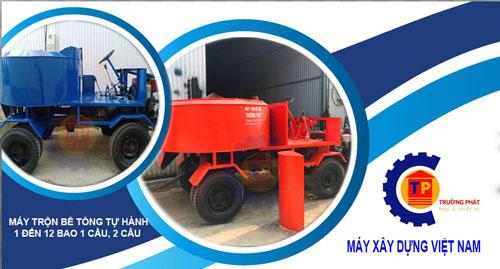 Tổng hợp máy trộn bê tông sản xuất tại Việt Nam và thực tế sử dụng